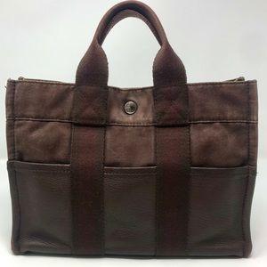 Hermès Fourre Tout PM Brown Toile & Leather Bag